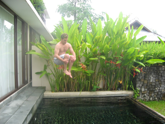 Private plunge pool at The Sarojin on our Thai honeymoon