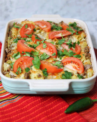 freezer meals for after baby: Mexican Mac and Cheese