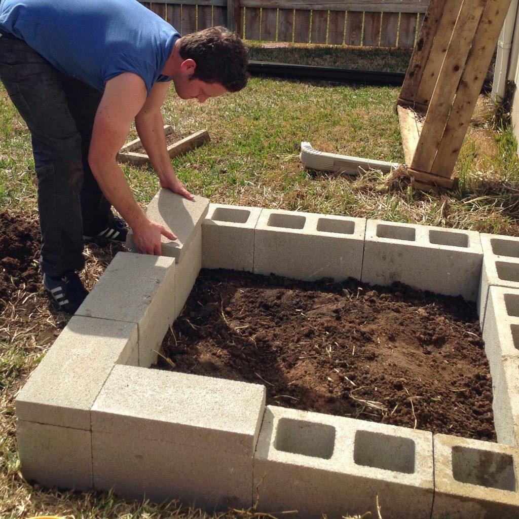 Diy Cinder Block Raised Garden Bed Fab Everyday