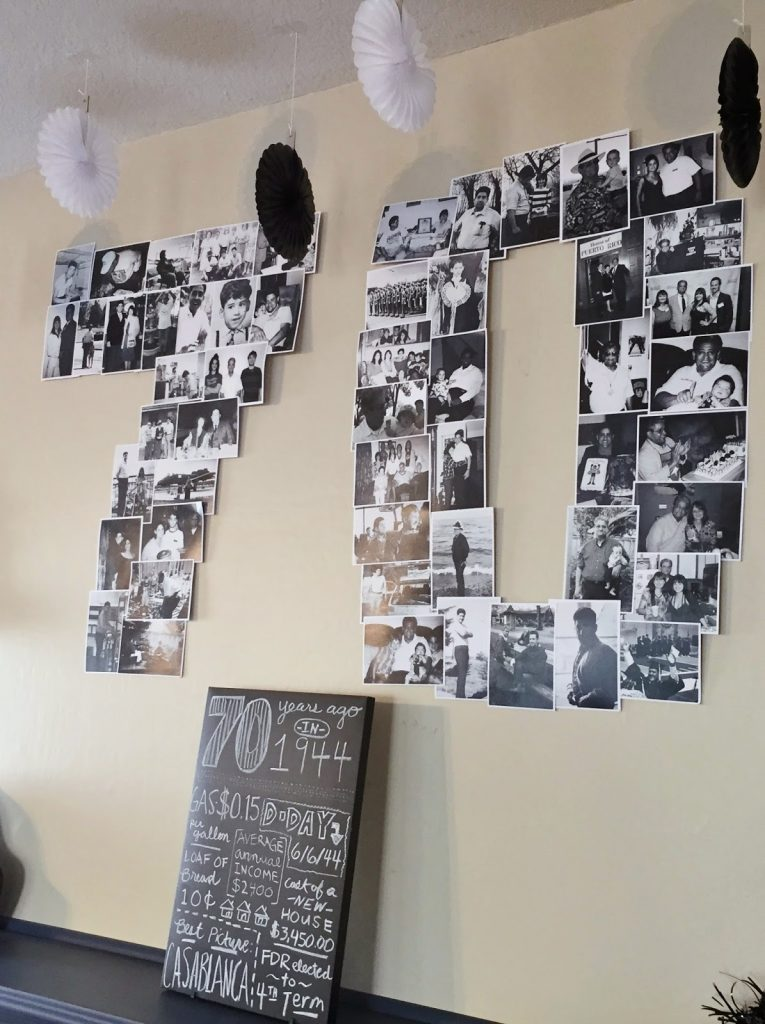 Here Is The Second Of Two 70 Photo Collages Along With A Chalkboard Sign Close Up Below
