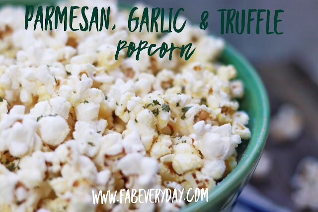 Parmesan, Garlic, and Truffle Popcorn recipe