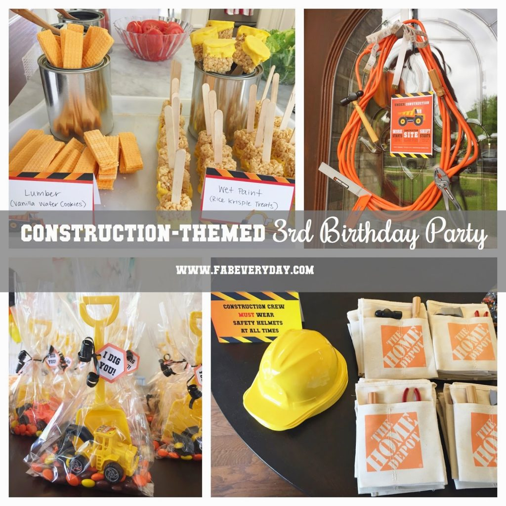 We Celebrated The Big T H R E With A Construction Themed Birthday Party For Little Dude Thanks To Good Ol Pinterest There Was No Shortage Of