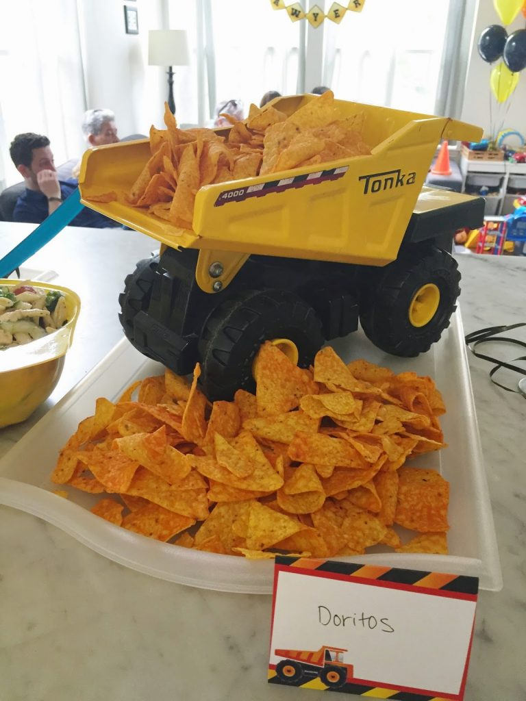 construction themed party food