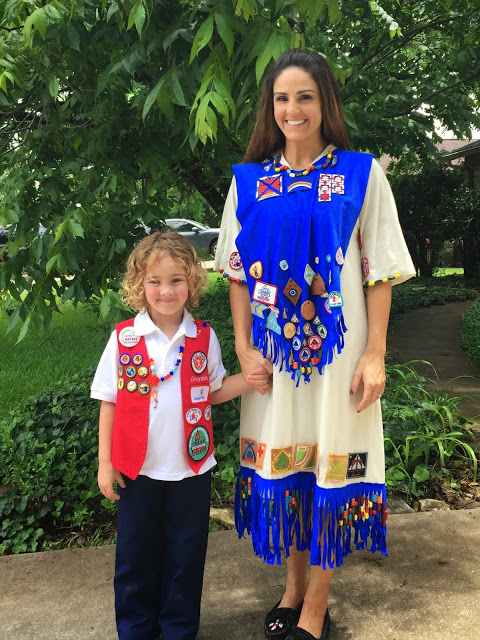 Camp Fire USA ceremonial attire for youth and alumni