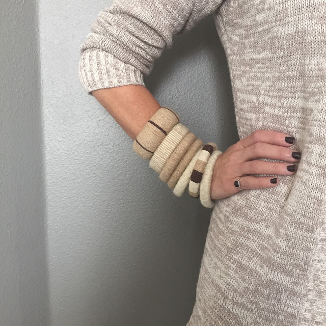 Safari Fashion: DIY Layered Jute Bangle Bracelets
