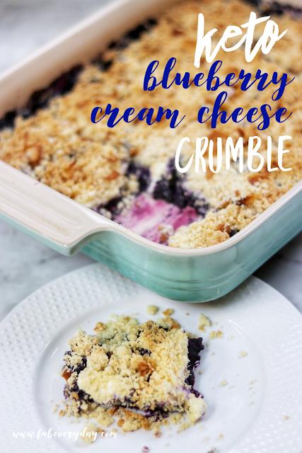 keto dessert ideas: keto blueberry cream cheese crumble recipe