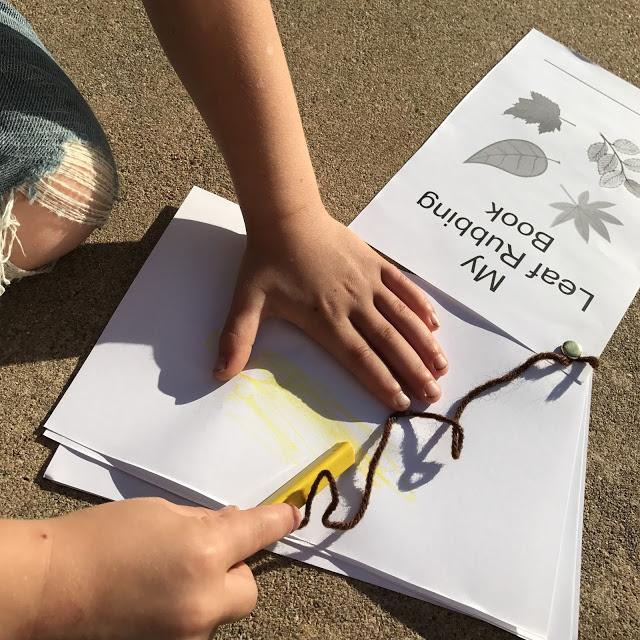 kids easy leaf rubbing craft idea