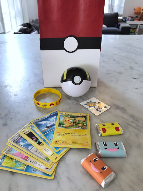 Inside The Favor Bags Were Plastic Poke Balls I Got This Pack Of Assorted From Amazon Cheap But Kids Loved Em Pokemon Silicon