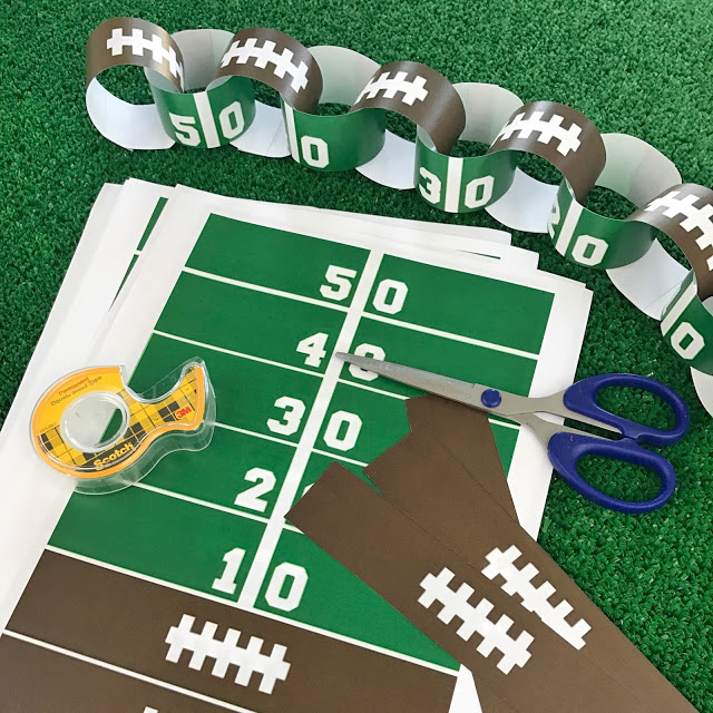 football party paper chain decorations