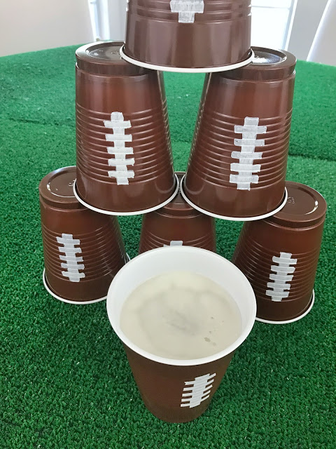 super easy diy football cups for a game watching party