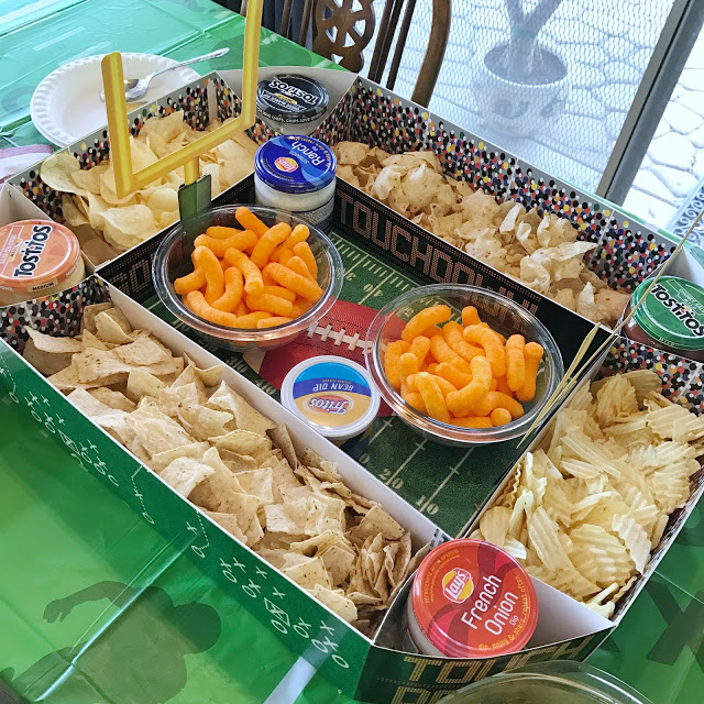 cool football decorations: stadium snack display