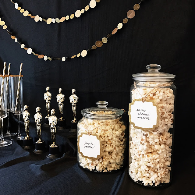 food to serve for a hollywood movie theme party or an award show watch party