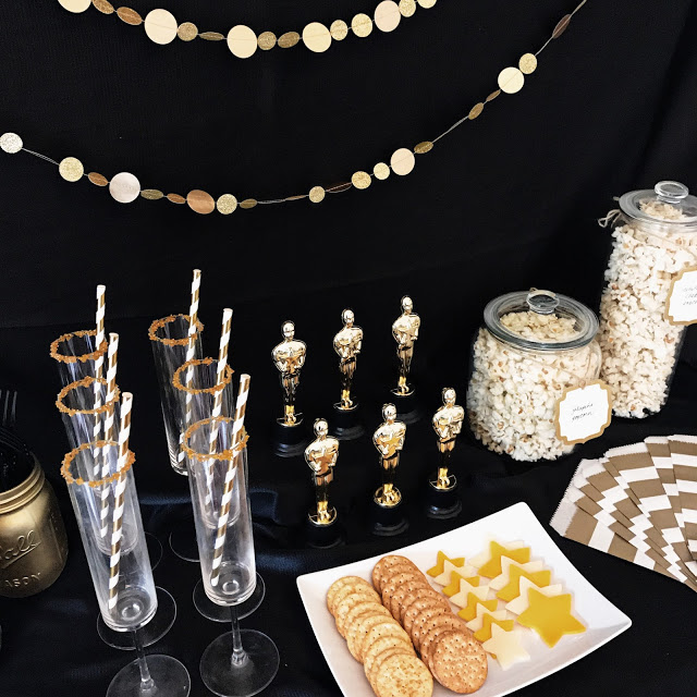 oscar party decorations - easy decor ideas for a hollywood movie awards party