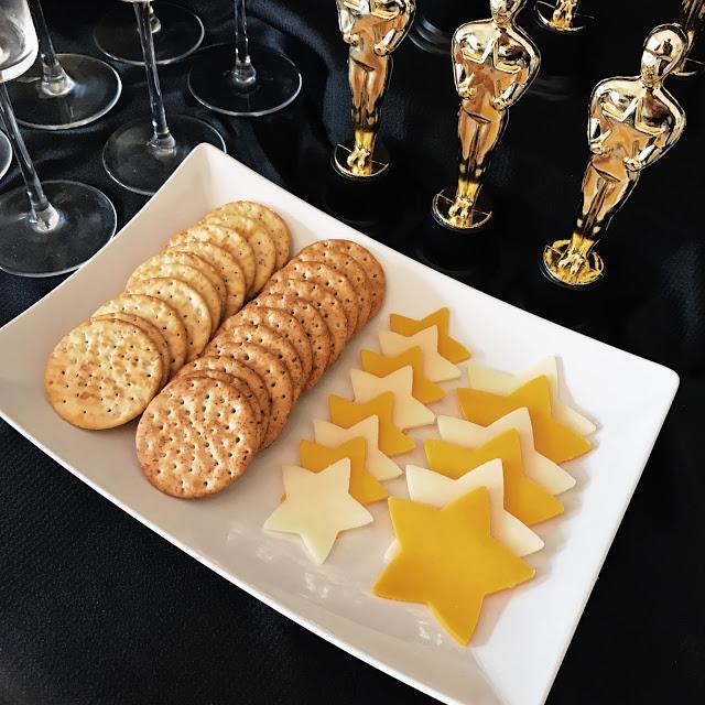 star shaped cheese food idea for an oscar party