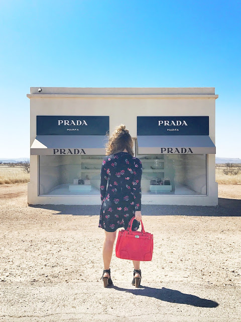 Prada Marfa art installation - where to stop on a Southwest USA road trip