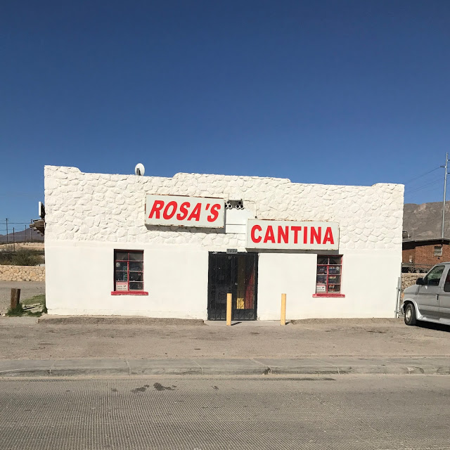 The famous Rosa's Cantina in the West Texas town of El Paso on road trip southwest USA