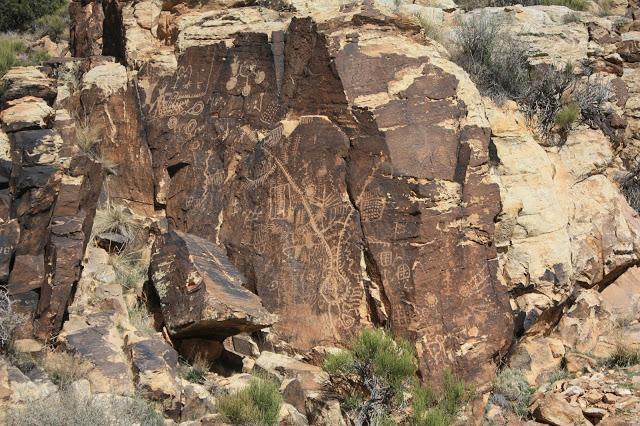 Parowan Gap Petroglyphs - Southwest road trip itinerary