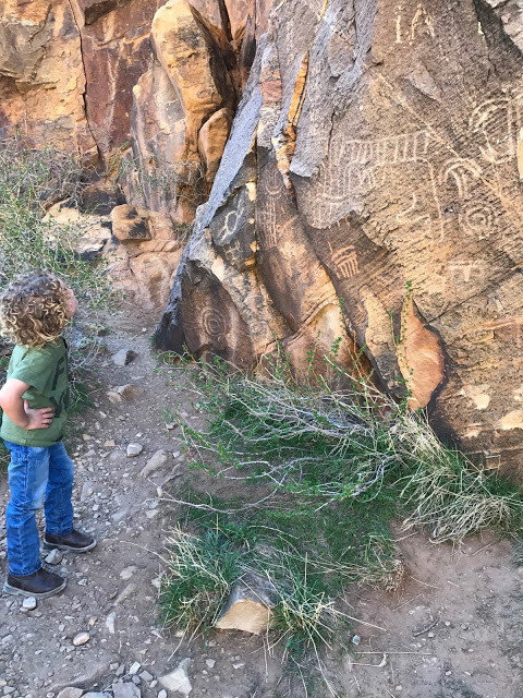 What to see during a Southwest road trip with kids: Parowan Gap Petroglyphs