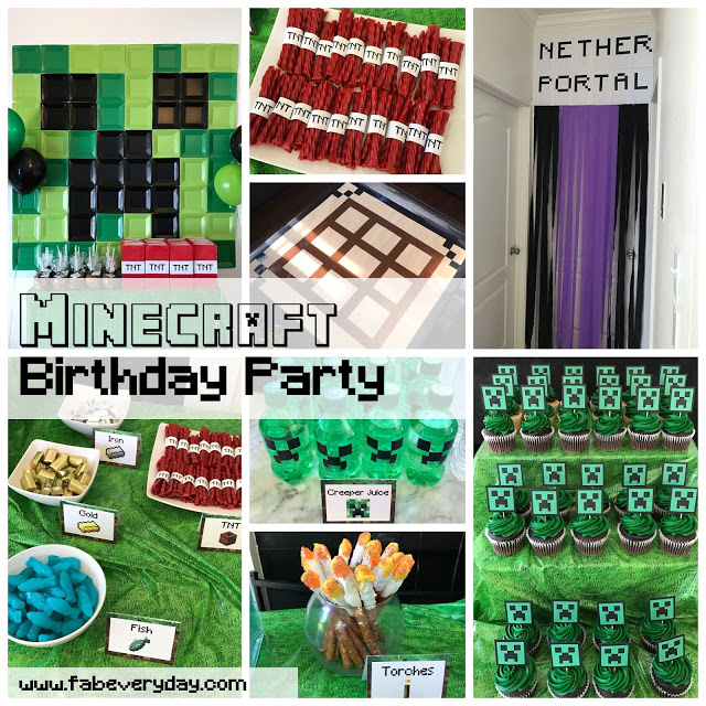 image regarding Minecraft Labels Printable named Minecraft-Themed 5th Birthday Social gathering (with Printables!) Fab
