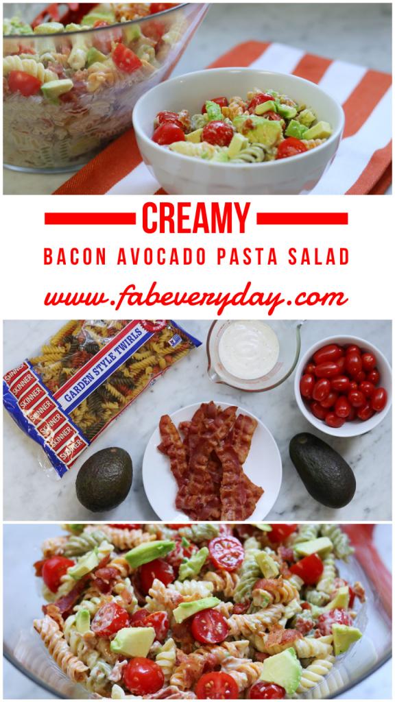 Creamy Bacon Avocado Pasta Salad Recipe Enter The Howdy Skinner