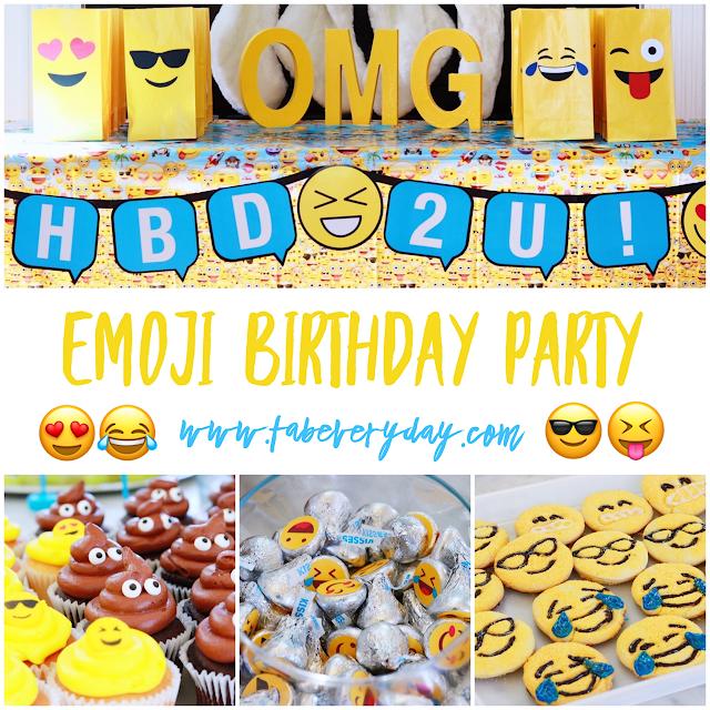 An Emoji Themed Kids Birthday Party