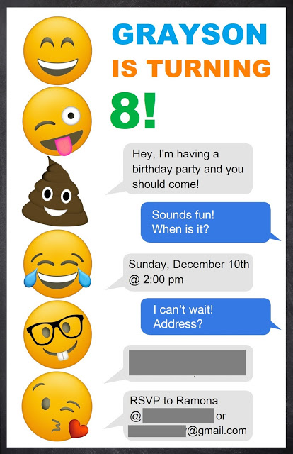 Save Yourself The Pinterest Scouring And Get All My Recommendations For Throwing A Fab Kids Emoji Themed Birthday Party Invitations