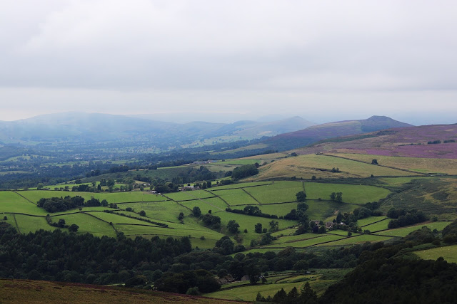 the view from stanage edge in derbyshire, england