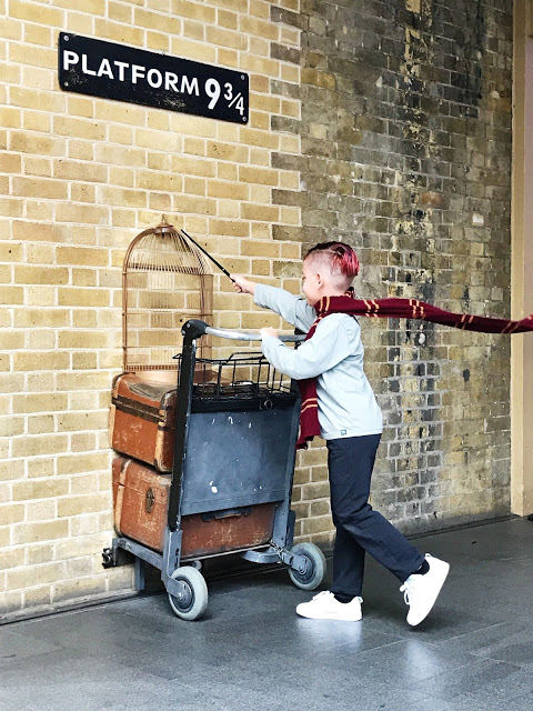 Must-do in London with kids: Visit Platform 9 3/4 at King's Cross Station