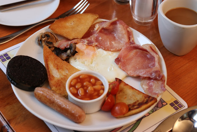 Full Scotch breakfast at Mambeg Country Guest House in Scotland