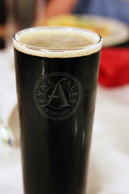 loch fyne ale at Cairndow Stagecoach Inn - scotland driving tour