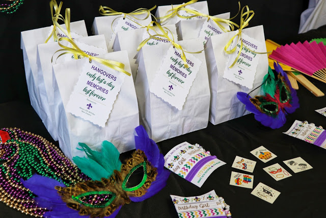 Lets Party Gras New Orleans Themed Bachelorette Or Birthday Party