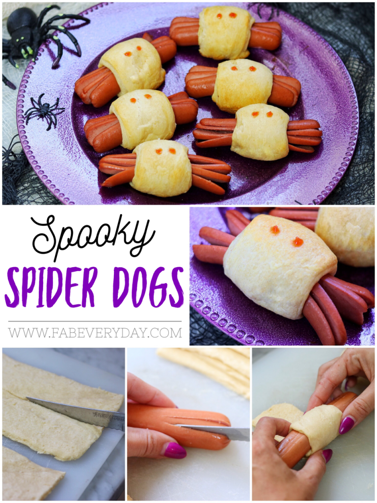 Fun Halloween Recipe For Kids Spooky Spider Hot Dogs Fab Everyday