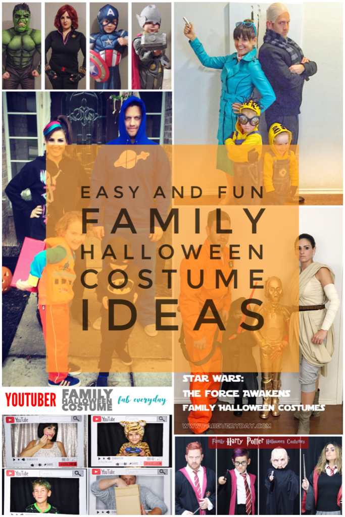 Diy Family Halloween Costumes.Easy And Fun Family Halloween Costume Ideas Fab Everyday