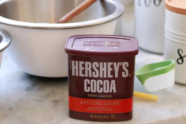 dark cocoa powder makes delicious brownies