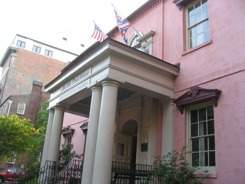 What to do for a weekend in Savannah GA: The Olde Pink House