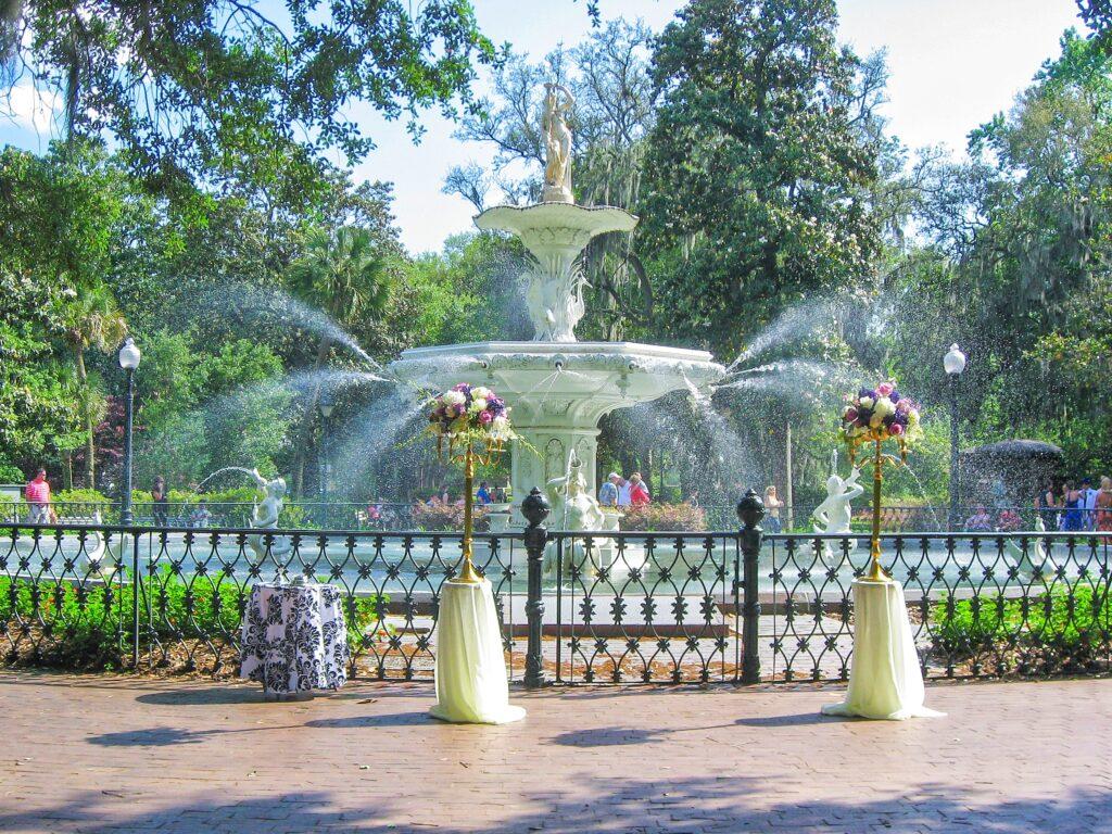 Savannah itinerary - Forsyth Park Fountain