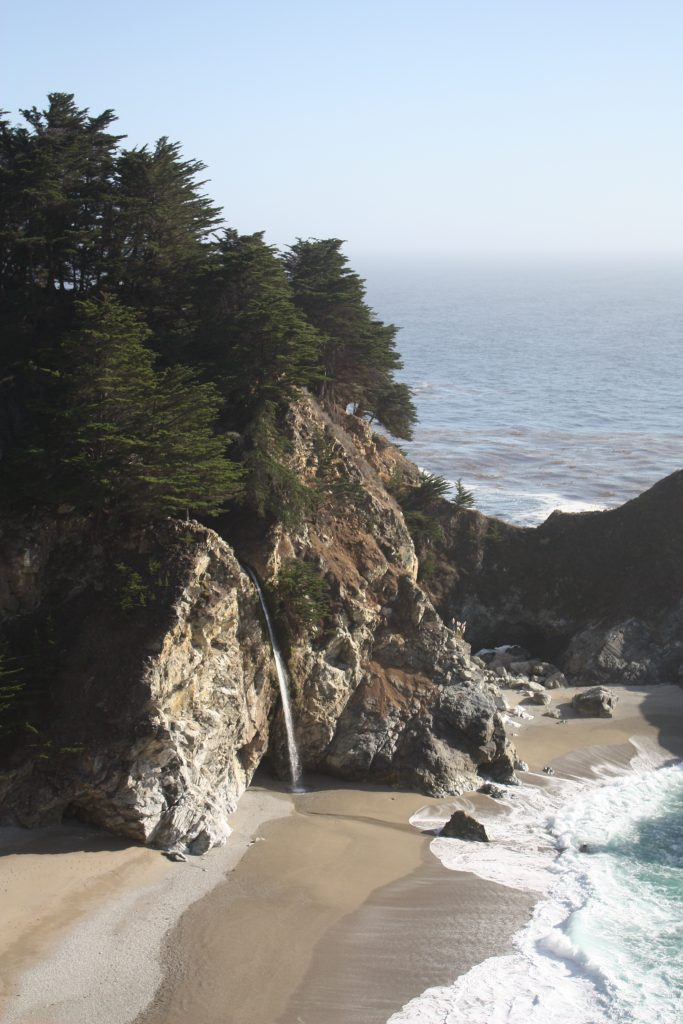 Big Sur road trip drive stops: McWay Falls at Julia Pfeiffer Burns State Park