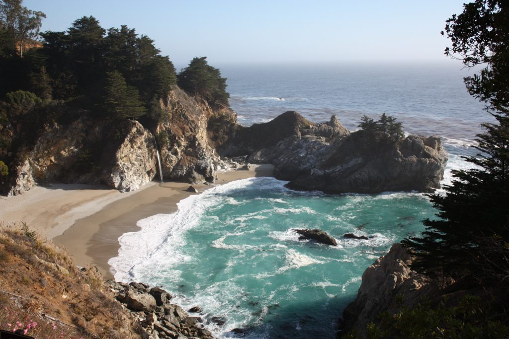 Big Sur stops on a PCH road trip: McWay Falls at Julia Pfeiffer Burns State Park