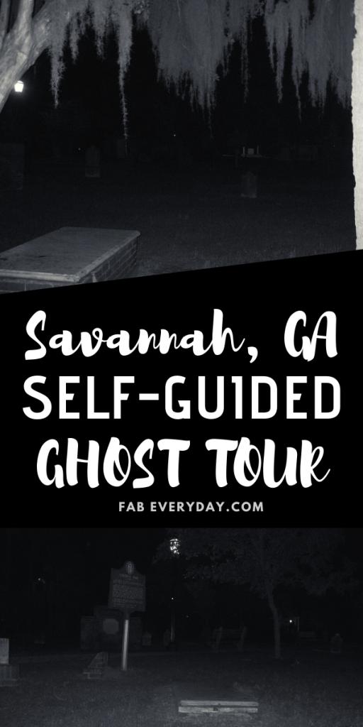 self-guided walking tour Savannah
