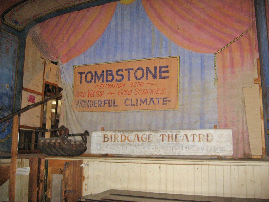 Tombstone Arizona attractions: Bird Cage Theatre