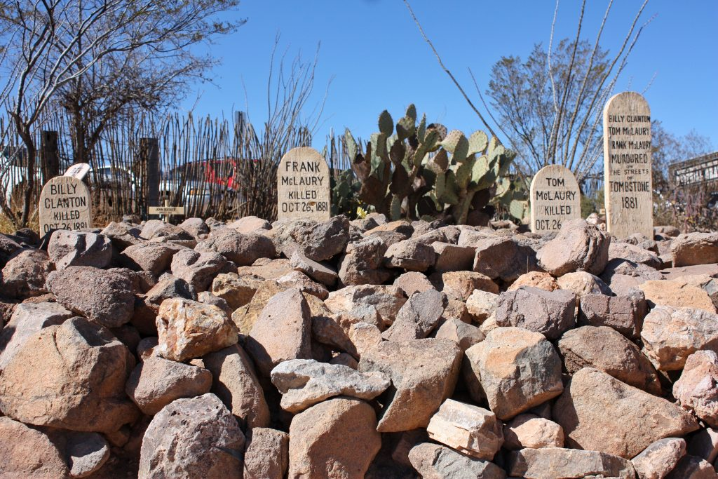 things to do in Tombstone: see the graves of the Clantons and McLaurys at Boothill Graveyard