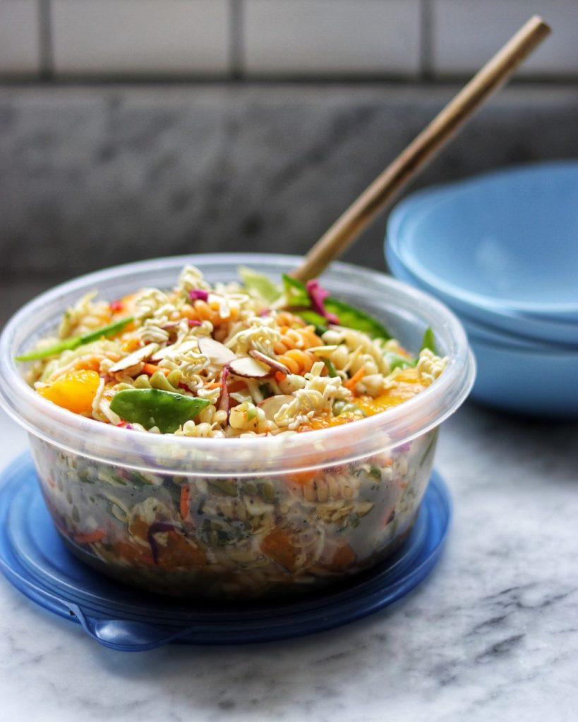 picnic food list: Crunchy Asian Pasta Salad