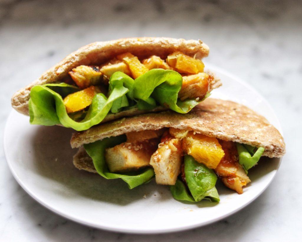 Spicy Orange and Sesame Chicken Sandwiches (easy picnic recipe idea)