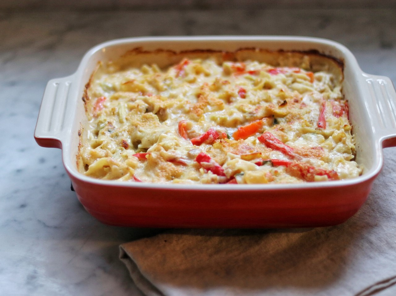 freezer meals for after baby: Mediterranean Tuna Noodle Casserole