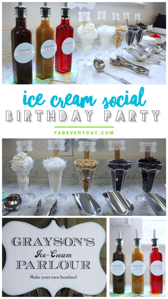 Ice Cream Social Birthday Party Ideas