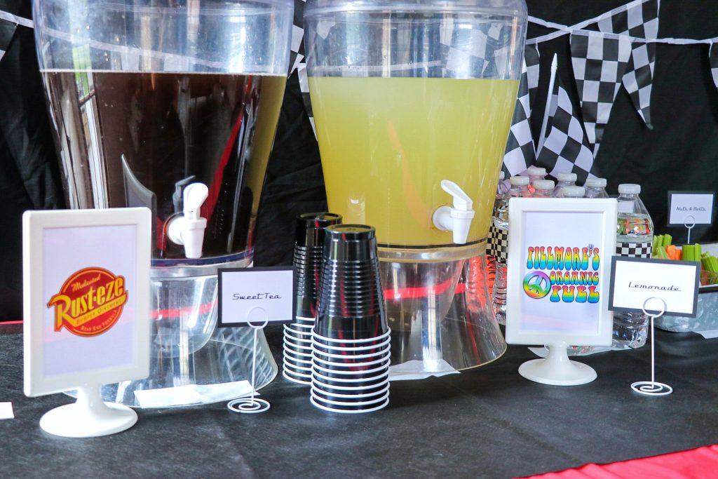 car themed birthday drink ideas