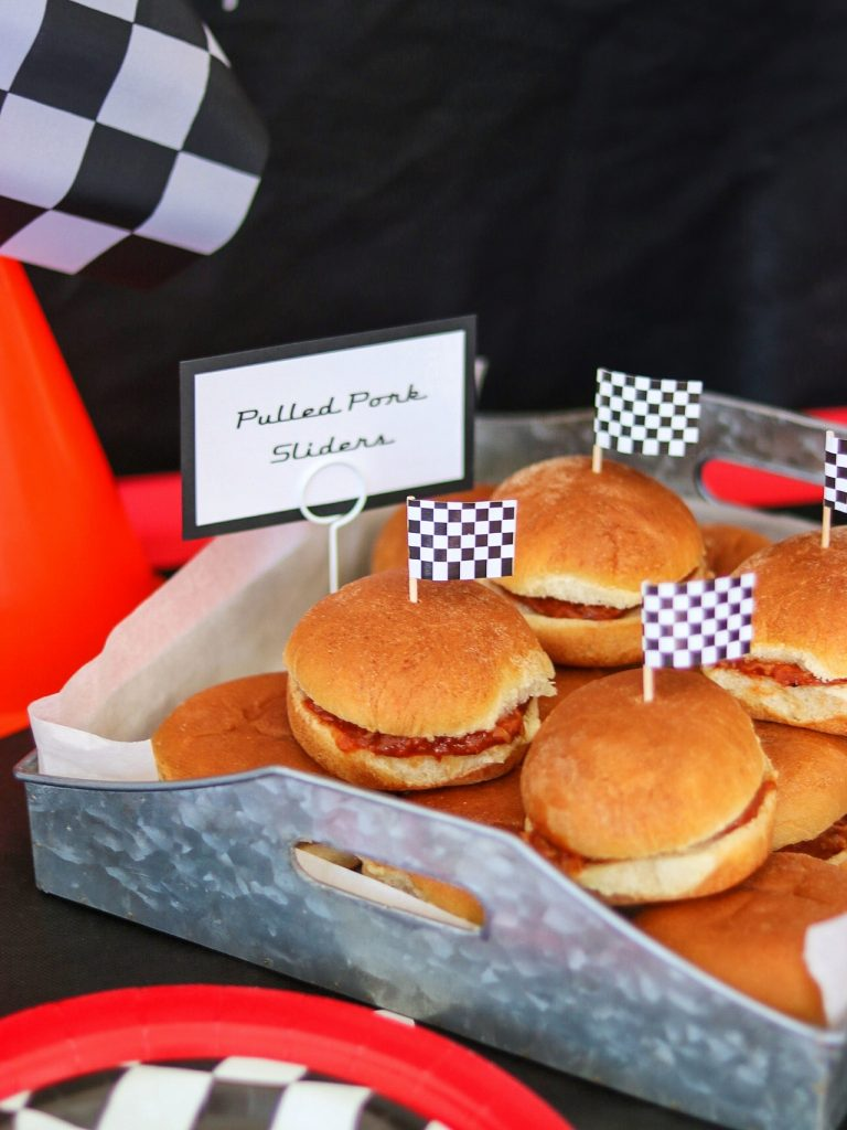 Car themed birthday food