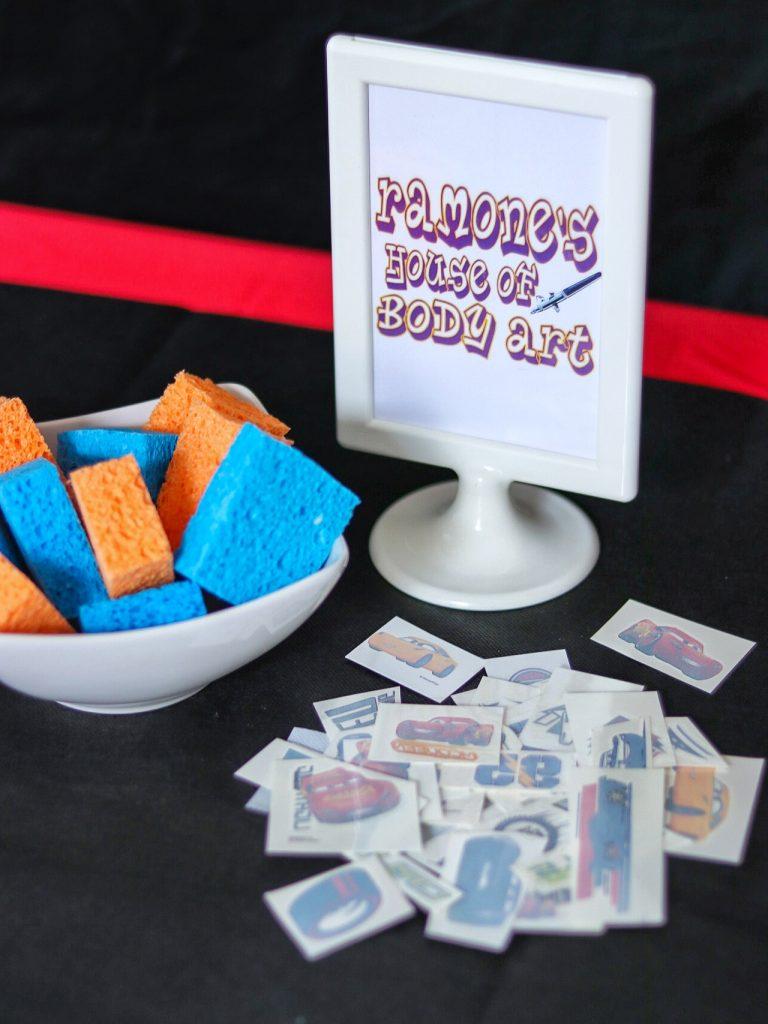 Disney Cars birthday party activities: Ramone's House of Body Art