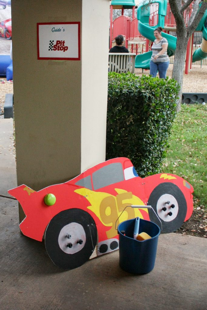 Disney Cars birthday party games: Guido's Pot Stop
