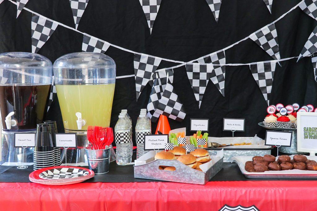 Disney Cars birthday party food ideas